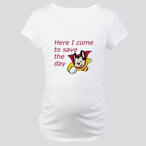 Mighty Mouse Save the Day Maternity T-Shirt