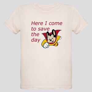 Mighty Mouse Save the Day Organic Kids T-Shirt