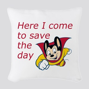 Mighty Mouse Save the Day Woven Throw Pillow