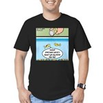 The Joys of Fish Food Men's Fitted T-Shirt (dark)