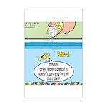 The Joys of Fish Food Mini Poster Print