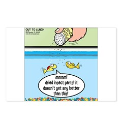 The Joys of Fish Food Postcards (Package of 8)