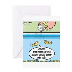 The Joys of Fish Food Greeting Card