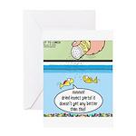 The Joys of Fish Food Greeting Card