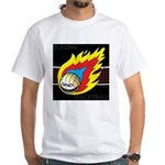 Blazing Volleyball White T-Shirt