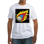 Blazing Volleyball Fitted T-Shirt