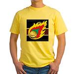 Blazing Volleyball Yellow T-Shirt
