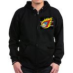 Blazing Volleyball Zip Hoodie (dark)