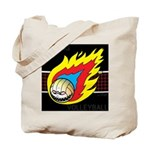 Blazing Volleyball Tote Bag