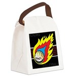 Blazing Volleyball Canvas Lunch Bag