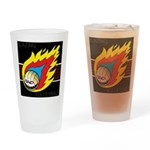 Blazing Volleyball Drinking Glass