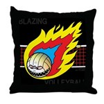 Blazing Volleyball Throw Pillow