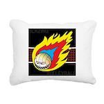 Blazing Volleyball Rectangular Canvas Pillow