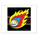 Blazing Volleyball Small Poster