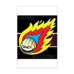 Blazing Volleyball Mini Poster Print
