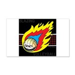 Blazing Volleyball 20x12 Wall Decal