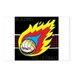 Blazing Volleyball Postcards (Package of 8)