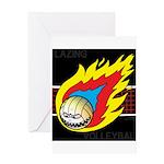 Blazing Volleyball Greeting Card