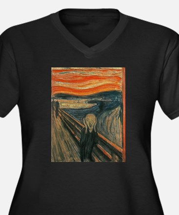 The Scream (Textured) by Edvard Plus Size T-Shirt