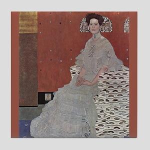 Klimt Art Tile Coaster Portrait of Frieda Reidler
