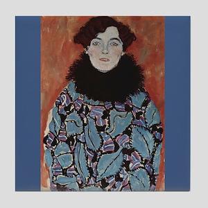 Klimt Art Tile Coaster Portrait of Johanna Staude