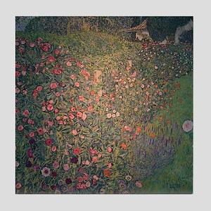 Gustav Klimt Art Tile Coaster Italian Garden
