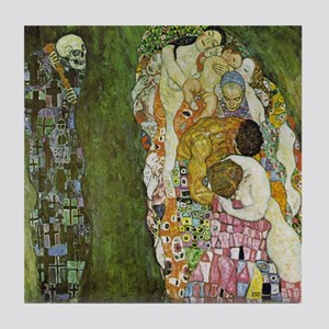 Gustav Klimt Art Tile Coaster - Life and Death