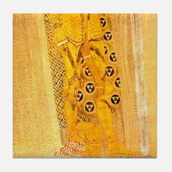 P2of2 Klimt Art Deco Tile Coaster Beethoven Frieze