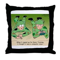 Basic Training Throw Pillow