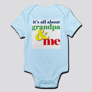 all about grandpa and me Infant Bodysuit