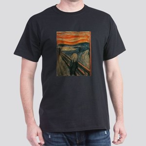 The Scream (Textured) by Edvard Munch T-Shirt