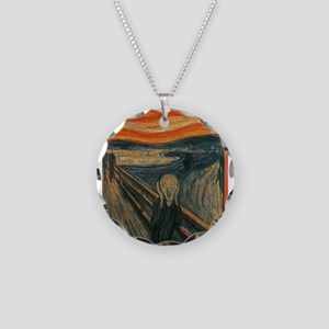 The Scream (Textured) by Edv Necklace Circle Charm