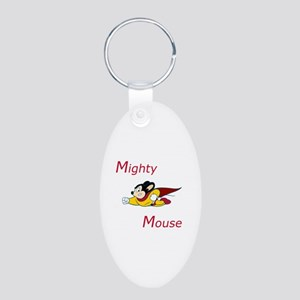 Mighty Mouse Aluminum Oval Keychain