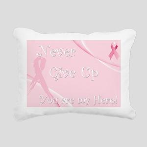 Breast Cancer Awareness Rectangular Canvas Pillow