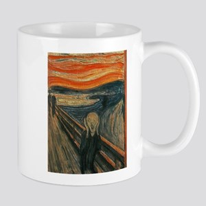 The Scream (Textured) by Edvard Munch Mugs