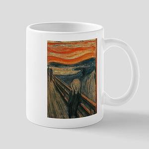 The Scream (Textured) by Edvard Munch Mugs