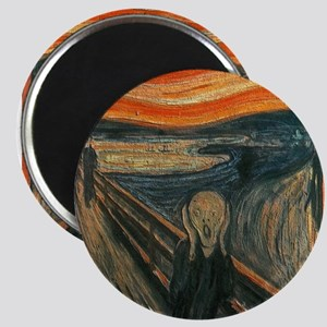 The Scream (Textured) by Edvard Munch Magnets