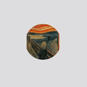 The Scream (Textured) by Edvard Munch Mini Button