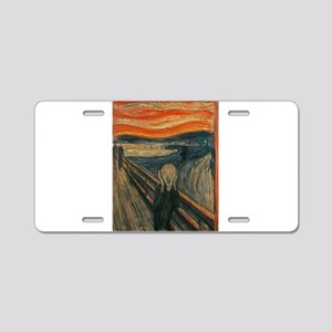 The Scream (Textured) by Ed Aluminum License Plate