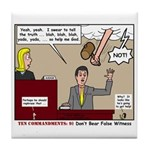 False Witness Tile Coaster
