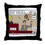 False Witness Throw Pillow