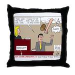 False Witness Throw Pillow