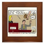 False Witness Framed Tile