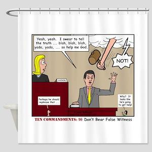 False Witness Shower Curtain