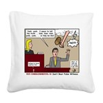 False Witness Square Canvas Pillow