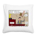 False Witness Square Canvas Pillow