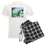 Witnessing False Bears Men's Light Pajamas