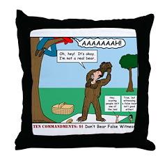 Witnessing False Bears Throw Pillow