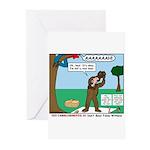Witnessing False Bears Greeting Cards (Pk of 20)