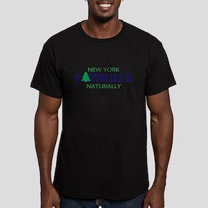 CATSKILLS NEW YORK NAT Men's Fitted T-Shirt (dark)